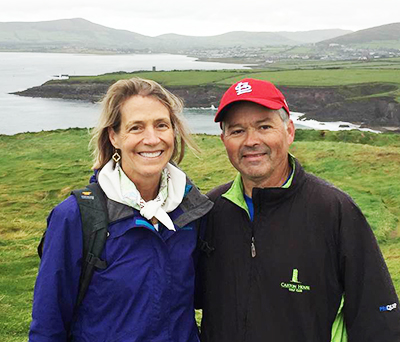 Dr. Chapman and his wife in Ireland
