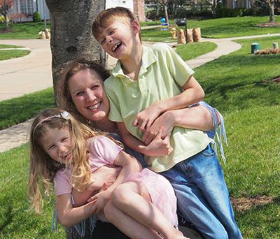 Dr. Kristen Bruno and her children