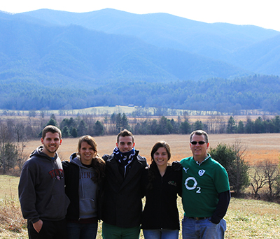 Dr. Lenihan and his family in the Smokey Mountains