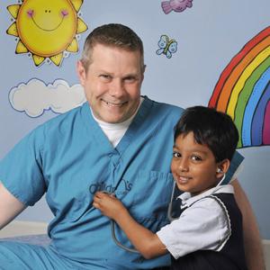 Dr. Warner and happy patient
