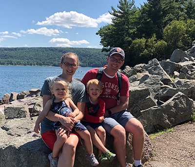 The Holden family at Devils Lake in Wisconsin